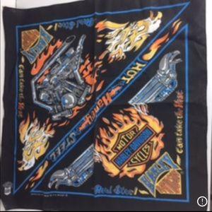 Vintage Harley Davidson The Hot Harley Steel Scarf